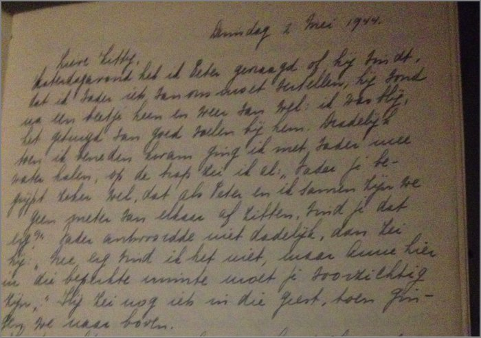 Citaten Uit Dagboek Anne Frank : Handschrift anne frank